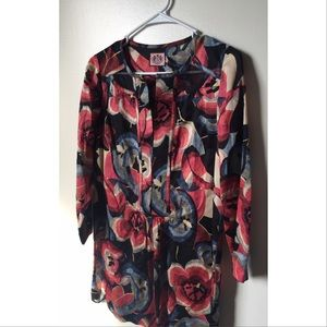 Juicy couture floral tunic dress size 4