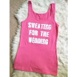 Sweating For The Wedding Jersey Tank