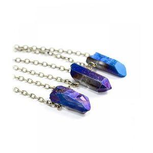 Jewelry - Raw crystal point brass necklace (1) per listing
