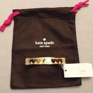 Kate Spade heart idiom bangle