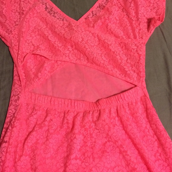 63 off forever 21 dresses amp skirts hot pink lace dress