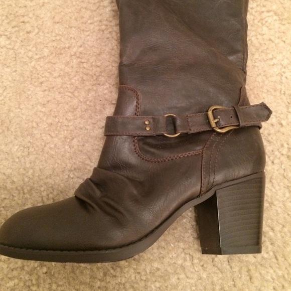 diba diba brown knee high boots size 7 1 2 from