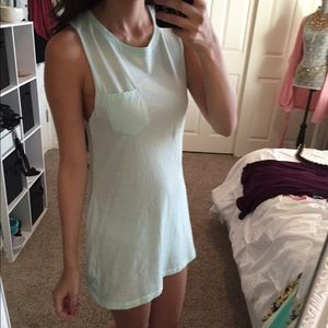 New Cute Mint Muscle Tank Dress
