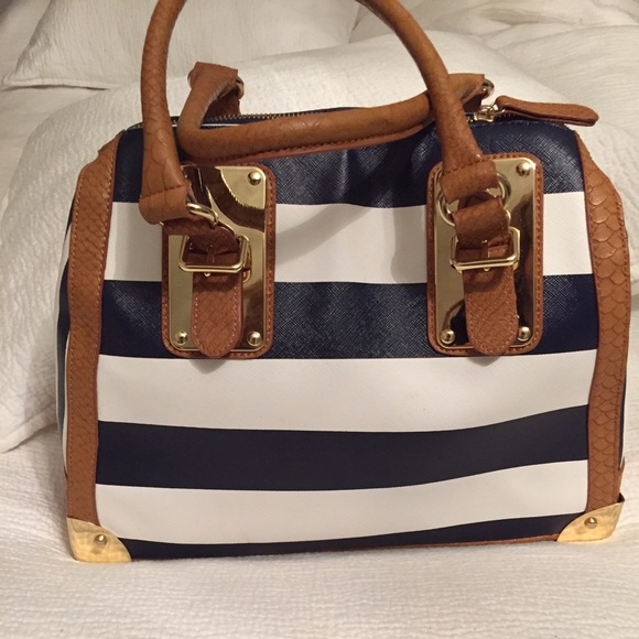 df33ca6c1b ALDO Handbags - Aldo striped Navy   White Purse