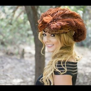 Accessories - Antique Victorian Hat VERY RARE-true Beauty