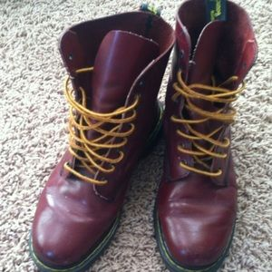 Doc Marten Shoes - Vintage Maroon/Cherry Doc Martens