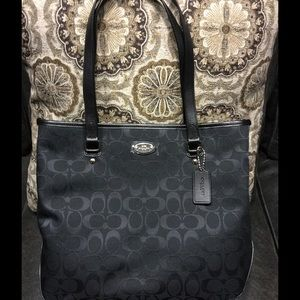 Authentic Coach Zip Top Tote