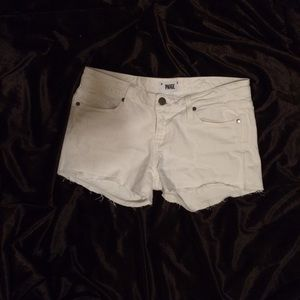 White denim shorts by Paige Jeans