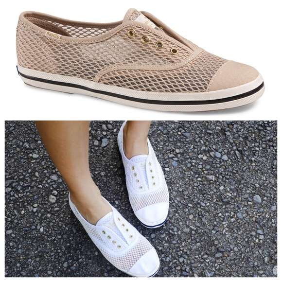 keds white mesh sneakers
