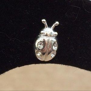 Jewelry - Sterling Silver 925 Lady Bug Crystal Stud Earrings