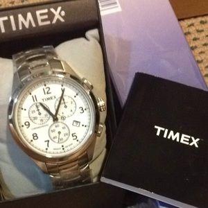 Timex Jewelry - SALE NWT Timex Stainless Steel Chronograph Watch
