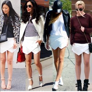 Zara Blogger Skort in White