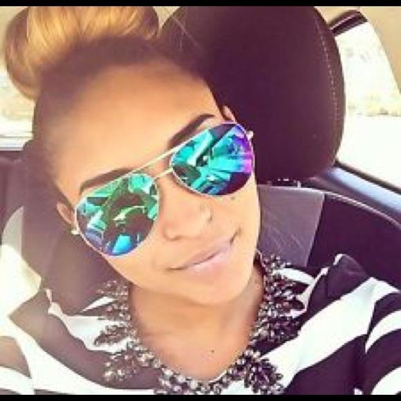green aviator sunglasses  Green/Blue/Purple Aviator Sunglasses OS from *leoninus\u0027s closet on ...