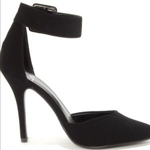Shoes - Black Ankle Strap Heels