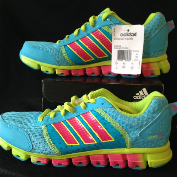 online store c4a8e 1240d Climacool adidas sz 7 youth pink and blue girls NWT
