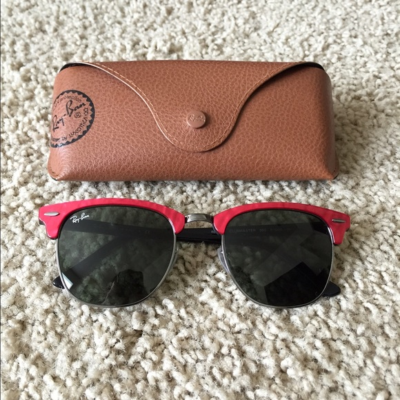 glasses similar to ray ban clubmaster  22% off Ray-Ban Accessories - Ray-Ban Clubmaster Sunglasses Red ...