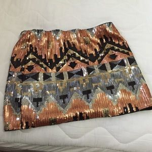 Foreign Exchange sequin skirt small
