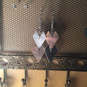 Silver tribal style earrings