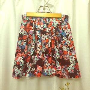 Flowered skater skirt