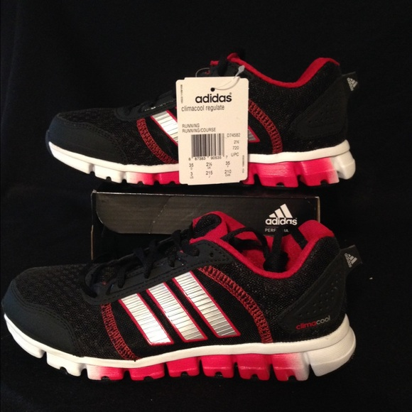 Boys adidas climacool size 3 youth black red