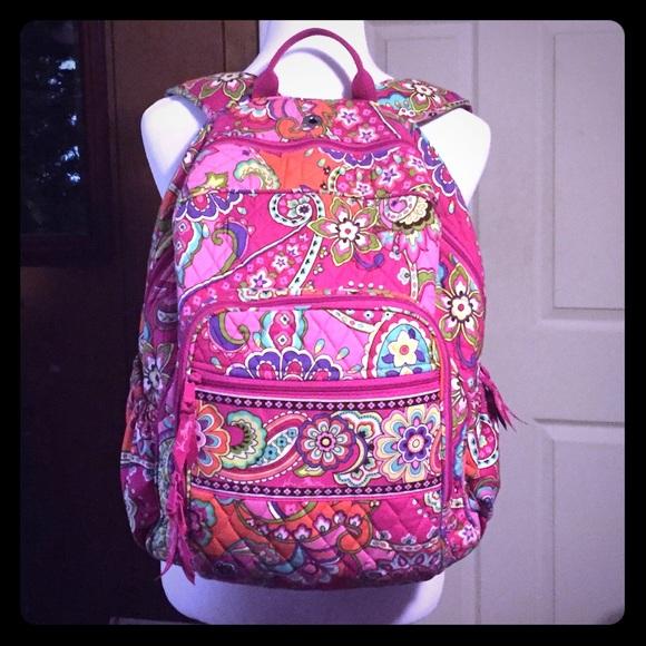b4d95e3b89 Vera Bradley Campus Backpack Pink Swirls Source · Vera Bradley Accessories  Backpack In Pink Swirls Poshmark