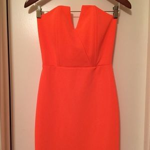 Lulu's Dresses & Skirts - Bright Lulu's Orange Bodycon Dress Size Sm