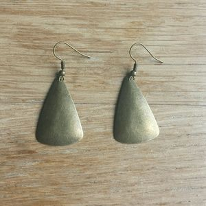 Pretty brass-looking earrings