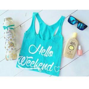 Tops - Hello Weekend tank - XL