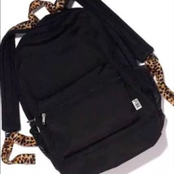 PINK Victoria's Secret - Vs Pink Campus Backpack In Black Leopard ...