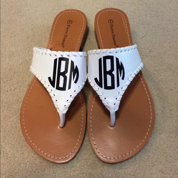 8753e539f96 CUSTOM Monogrammed Off Brand Jack Roger sandals