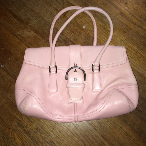 64 off coach handbags light pink coach leather purse