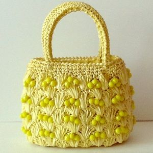 HOST PICK  Vintage 60's Yellow Beaded Purse