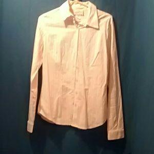 Long Elegant Legs Tops - Button Up Women's  Long Sleeve Shirt