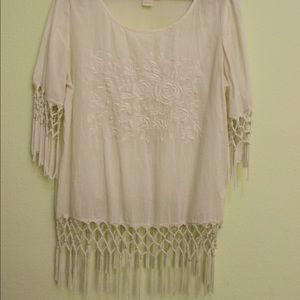 Urban Outfitters boho fringe top