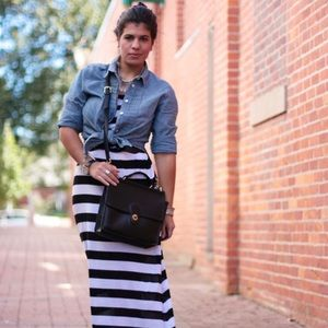 Kamali Kulture Dresses & Skirts - {SOLD IN BUNDLE} Black & White Striped Maxi Dress