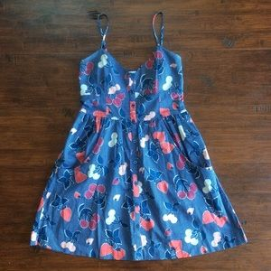 Adorable Fruit Print Dress