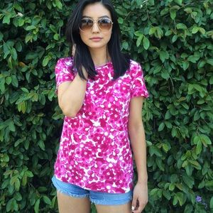 Pink Flower Printed Shirt