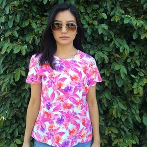 Laura Scott Tops - Tropical Printed Shirt