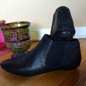 Black Aldo Leather Ankle Boots, Super Comfortable