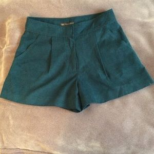 Armani Exchange Other - Armani Exchange crushed suede teal dressy shorts