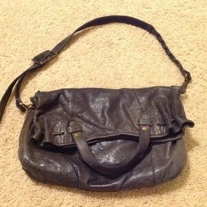 Lucky Brand leather fold over crossbody