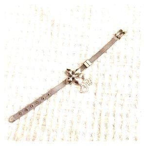 Sterling Dior mesh bracelet