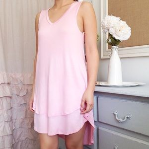 Light Pink Layered Everyday Dress