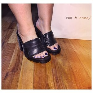 RAG & BONE Black Leather Sidney Sandal!!
