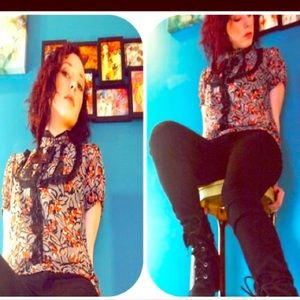 Kimichi blue URban Outfitters blouse top floral