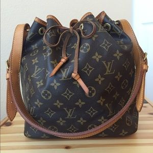 Authentic Louis Vuitton Monogram Petit Noe