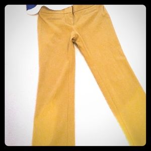 LOFT Pants - LOFT Mustard Colored Marisa Slacks