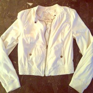 White suede jacket