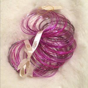 Amrita Singh Jewelry - ❗LOWEST❗Set of 100 Amrita Singh Pink Brass Bangles