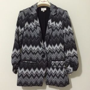 ECI New York Jackets & Blazers - ECI New York Chevron Blazer